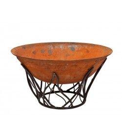 Cast Iron Fire Bowl 100cm with Blaze Stand