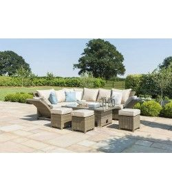 Henley Corner Sofa Dining Set With Rising Table