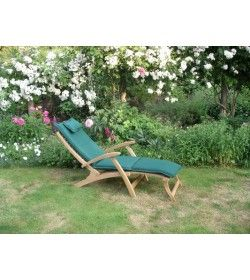 Steamer outdoor cushion - forest green