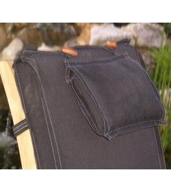 Steamer outdoor cushion - black