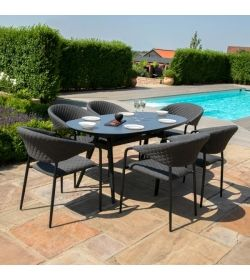 Pebble 6 Seat Oval Dining
