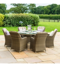 Winchester Venice 6 Seat Round Dining Set