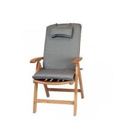 Recliner outdoor cushion  black Pinstripe