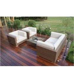 Monaco Sofa Set Brown weave