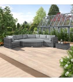 Deluxe Hampton Corner Sofa Set