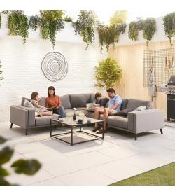 Infinity Fabric Corner Sofa Set