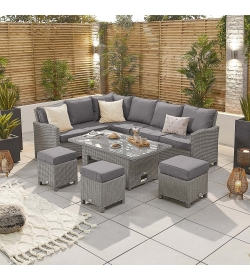 Ciara Left Hand Dining Sofa Set with Rising Table