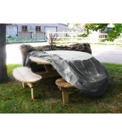 Round picnic table cover