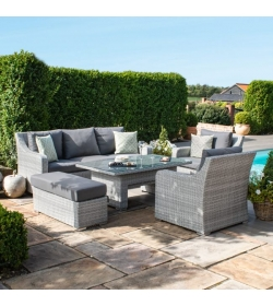 Ascot 3 Seat Sofa Dining Set - With Rising Table
