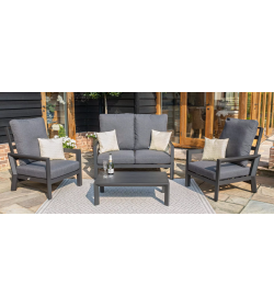 Manhattan Reclining 2 Seat Sofa Set with Coffee Table