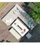 Pulse Rectangular Corner Dining Set - With Fire pit Table