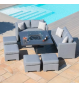 Fuzion Cube Sofa Set - With Fire pit