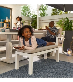 Vogue 3 Seater Sofa Set with Rising Table & Bench
