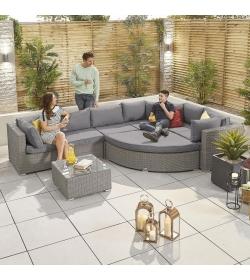 Heritage Deluxe Hampton 1A Rattan Corner Sofa Set