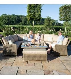 Winchester Royal U Shaped Sofa Set - With Rising Table