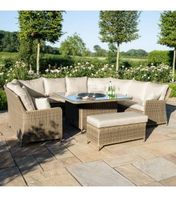 Winchester Royal U Shaped Sofa Set - With Fire Pit