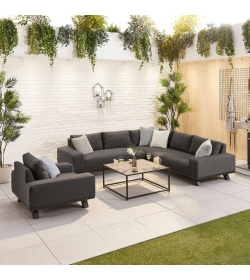 Tranquility Fabric Corner Sofa Set with Armchair