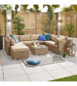 Chelsea 2A Rattan Corner Sofa Set