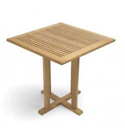 Cafe FSC 75cm sq teak table