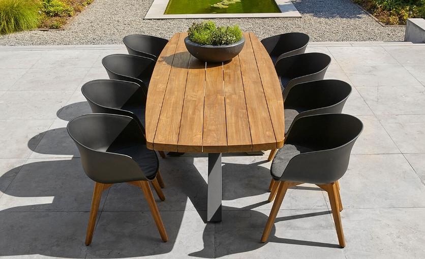 Aluminium Teak Table Sets